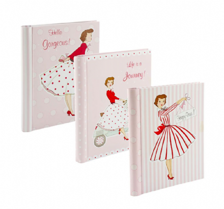 Pink Vintage Mrs Smith Retro Girls & Ladies Notebook